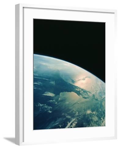Florida Peninsula From Shuttle--Framed Art Print