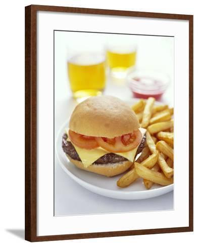 Cheeseburger And Chips-David Munns-Framed Art Print