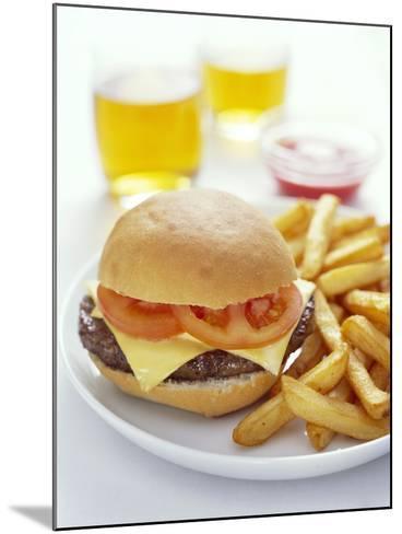 Cheeseburger And Chips-David Munns-Mounted Photographic Print