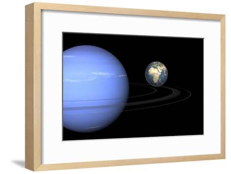 Neptune And Earth, Artwork-Walter Myers-Framed Art Print