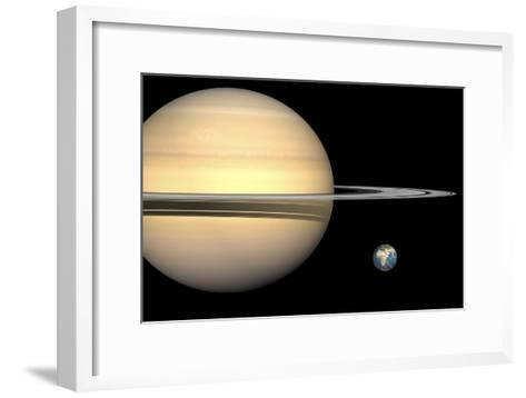 Saturn And Earth, Artwork-Walter Myers-Framed Art Print
