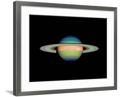 Cloud Cover on Saturn--Framed Art Print