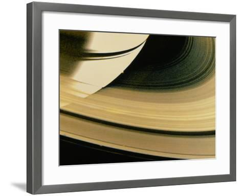 Voyager 1 Photo of Saturn & Its Rings--Framed Art Print
