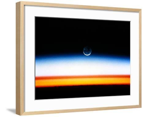 Moonrise Before Sunrise From Orbit, STS-52--Framed Art Print