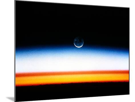Moonrise Before Sunrise From Orbit, STS-52--Mounted Photographic Print