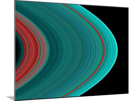 Saturn's Rings--Mounted Photographic Print