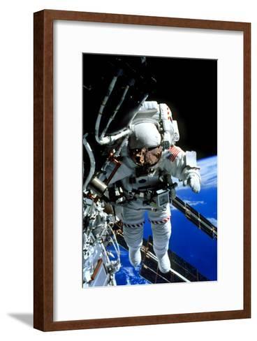 ISS Astronaut--Framed Art Print