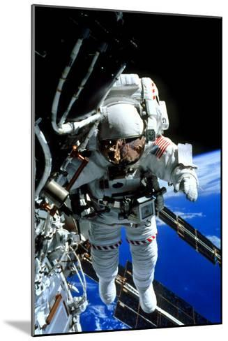 ISS Astronaut--Mounted Photographic Print