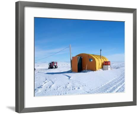 Antarctic Research Station, McMurdo Base-Ria Novosti-Framed Art Print