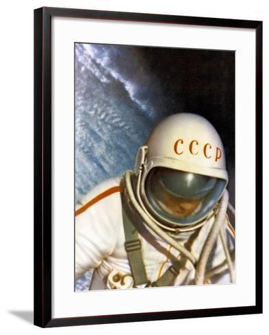 Alexei Leonov, First Space Walk, 1965-Ria Novosti-Framed Art Print