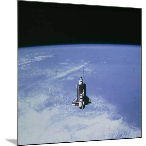 Space Shuttle Challenger STS-7 Orbiting Earth.--Mounted Photographic Print