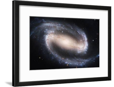 Barred Spiral Galaxy NGC 1300, HST Image--Framed Art Print