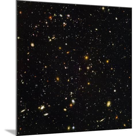 Hubble Ultra Deep Field Galaxies--Mounted Photographic Print