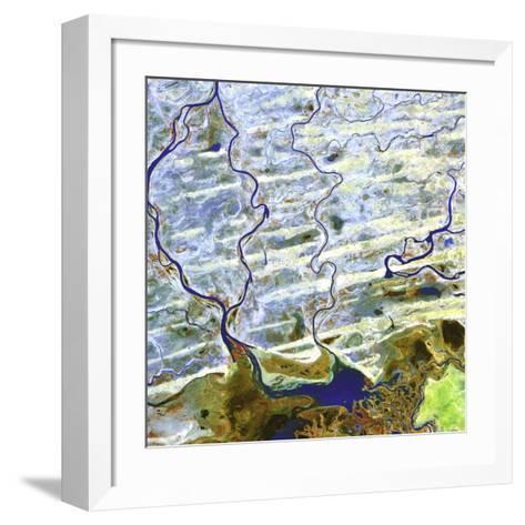 Saharan Desert Rivers, Satellite Image--Framed Art Print