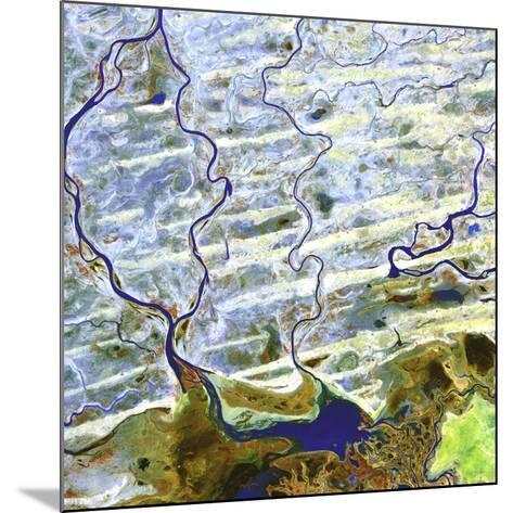 Saharan Desert Rivers, Satellite Image--Mounted Photographic Print