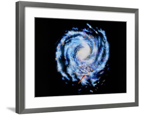 Artwork Showing Our Galaxy the Milky Way-J. Baum and N. Henbest-Framed Art Print