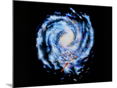Artwork Showing Our Galaxy the Milky Way-J. Baum and N. Henbest-Mounted Photographic Print