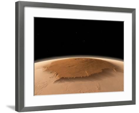Olympus Mons, Mars, Artwork-Walter Myers-Framed Art Print