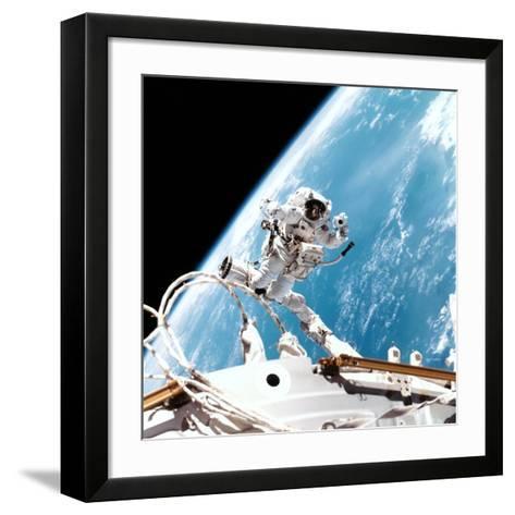 ISS Space Walk--Framed Art Print