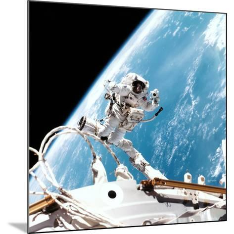 ISS Space Walk--Mounted Photographic Print
