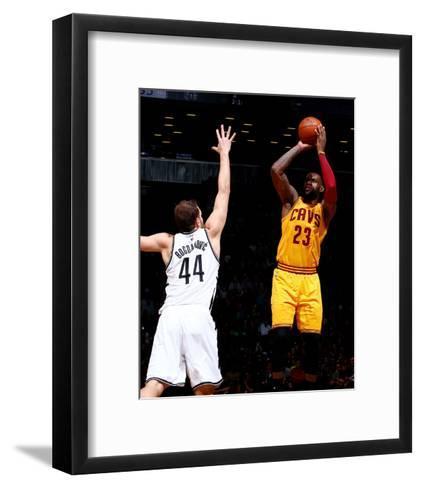 Cleveland Cavaliers v Brooklyn Nets-Nathaniel S Butler-Framed Art Print