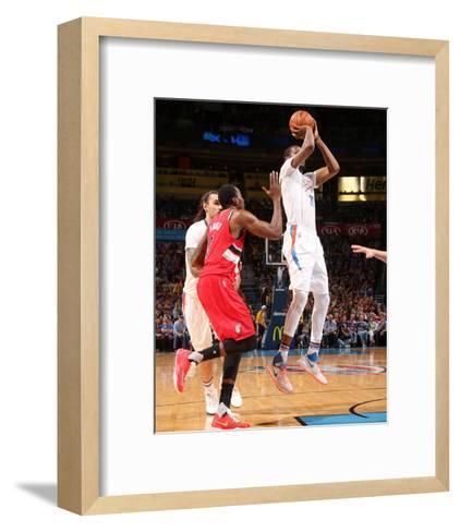 Portland Trail Blazers v Oklahoma City Thunder-Layne Murdoch-Framed Art Print