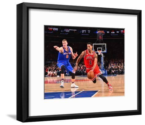 New York Knicks V Chicago Bulls-Jesse D Garrabrant-Framed Art Print