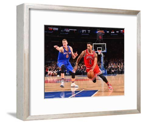 New York Knicks V Chicago Bulls-Jesse D Garrabrant-Framed Art Print