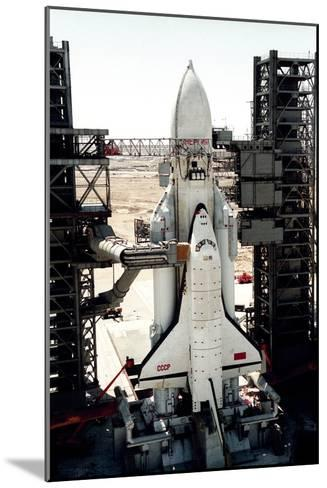 Russian Buran Space Shuttle on Launchpad-Ria Novosti-Mounted Photographic Print