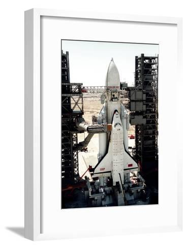 Russian Buran Space Shuttle on Launchpad-Ria Novosti-Framed Art Print