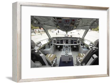 Cockpit of Superjet 100 Airliner-Ria Novosti-Framed Art Print