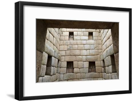 Building Interior, Machu Picchu, Peru-Matthew Oldfield-Framed Art Print