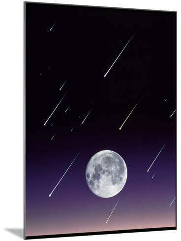 Meteors And Full Moon-David Nunuk-Mounted Photographic Print