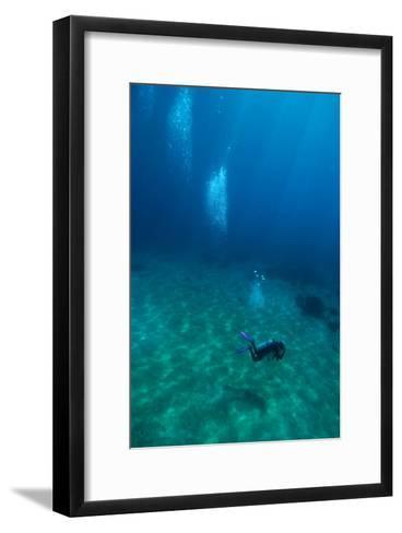 Scuba Diving-Matthew Oldfield-Framed Art Print
