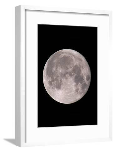 Full Moon In the Night Sky-David Nunuk-Framed Art Print