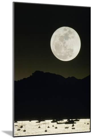 Full Moon Seen From Earth Over Mountains-David Nunuk-Mounted Photographic Print