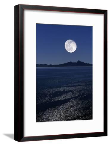 Moonrise Over Sea-David Nunuk-Framed Art Print