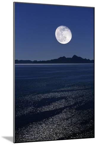 Moonrise Over Sea-David Nunuk-Mounted Photographic Print