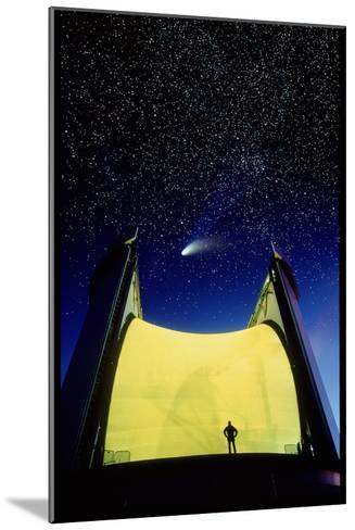 Telescope & Comet Hale-Bopp-David Nunuk-Mounted Photographic Print