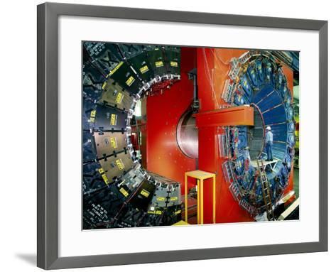 CDF Particle Detector, Fermilab-David Parker-Framed Art Print