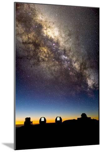 Mauna Kea Telescopes And Milky Way-David Nunuk-Mounted Photographic Print