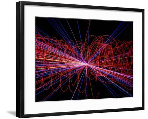 Simulation of Higgs Boson Production-David Parker-Framed Art Print