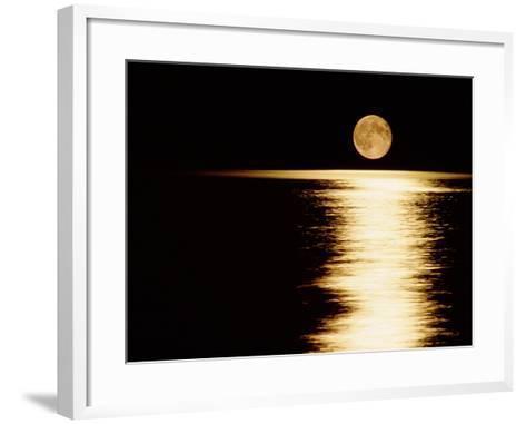 Moonrise, Haro Strait Vancouver-David Nunuk-Framed Art Print