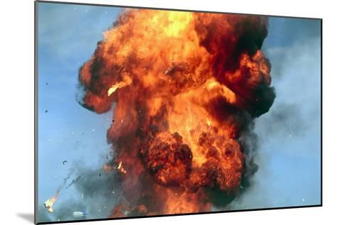 Pillar of Fire Due To Explosion-David Nunuk-Mounted Photographic Print