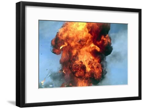 Pillar of Fire Due To Explosion-David Nunuk-Framed Art Print