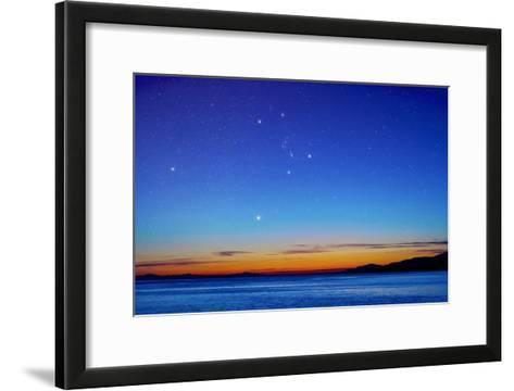 Orion Over the Georgia Strait, Canada-David Nunuk-Framed Art Print