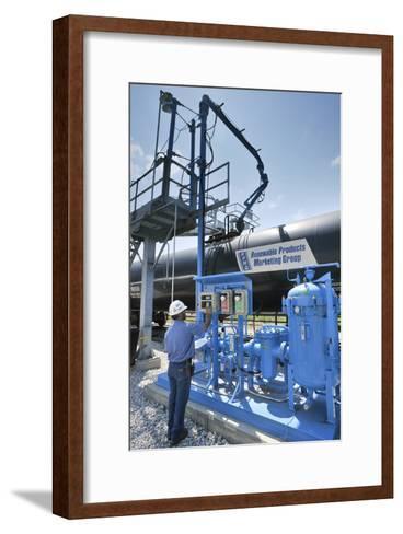 Corn Ethanol Processing Plant-David Nunuk-Framed Art Print