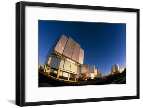 VLT Telescopes-David Nunuk-Framed Art Print