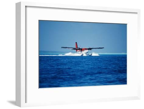 Seaplane Landing-Matthew Oldfield-Framed Art Print