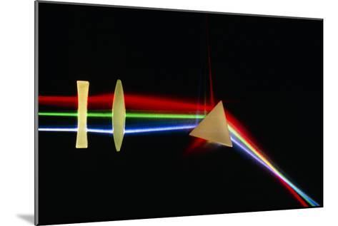Refraction of Light by Lenses & a Prism-David Parker-Mounted Photographic Print